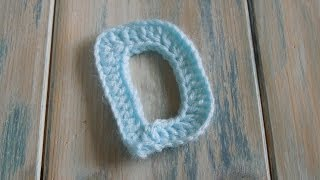 (crochet) How To - Crochet Letters - D - Crochet Extras