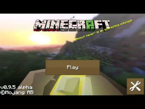 Minecraft Pocket Edition 0.9.5: Update Review Y Textura SPHAX PUREDBCRAFT