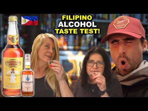 Canadians Taste Filipino Alcohol for the First Time!!  (Tanduay, Fundador, Fighter Wine)