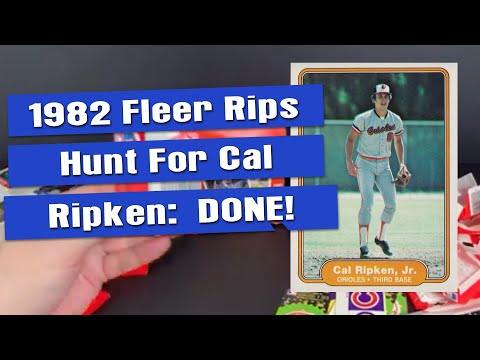 Cal Ripken Jr. Hit! 1982 Fleer Sealed Box Opening