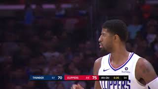 Los Angeles Clippers vs Oklahoma City Thunder | November 18 2019