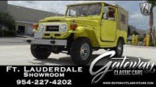 1977 Toytota FJ40 Gateway Classic Cars Fort Lauderdale Stock #972