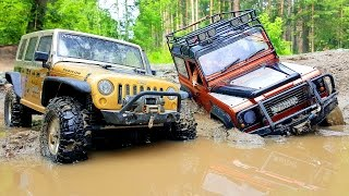 RC Extreme Pictures — RC Cars OFF Road 4x4 Adventure — Mudding 4x4 Trucks Jeep VS Land Rover