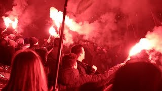 11.11.2018 ONR/MW/KOD/Antifa Independence March - Independence Running - Warsaw Poland Full Version