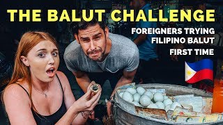 Foreigners try BALUT FOR THE FIRST TIME in the Philippines