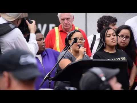 Burnie Sanders Rally - Black Lives Matter Interruption