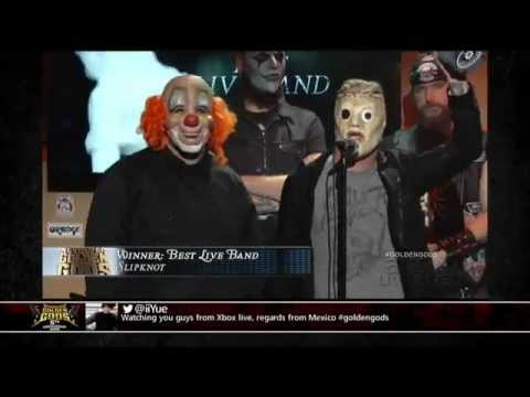 Golden Gods Awards 2013. Best Live Band: Slipknot