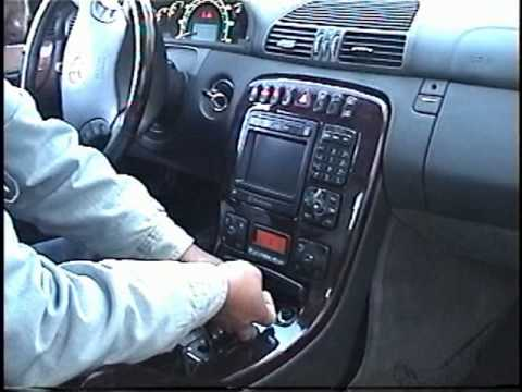 How to Remove Radio / CD Changer / Navigation from 2000 Mercedes CL500 for Repair