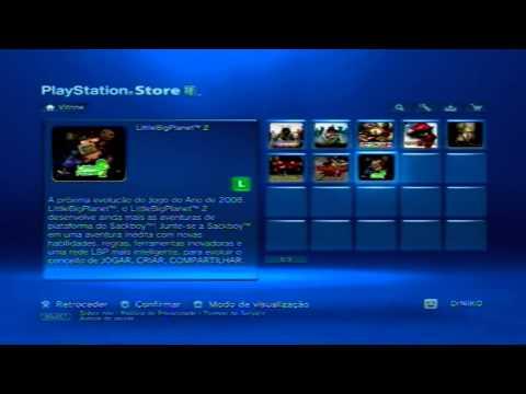 Mostrando a PSN Store Brasileira. Preços e coisas disponiveis