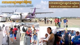 We fly to Siem Reap with Cambodia Angkor Air | Very fast travel from Phnom Penh to Siem Reap 45min.