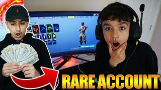 Offering My Little Brother $1,000 For His Rare Fortnite Account! Insane