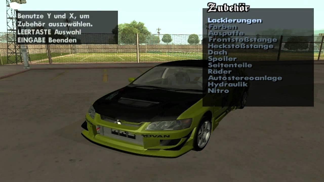 Gta San Andreas Car Tuning mod - YouTube