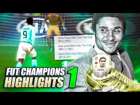 ROAD TO 1000 GOALS WITH BABY EUSEBIO!!!!!!! FUT CHAMPS HIGHLIGHTS PART 1