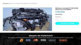 Moteur complet VW AUDI SEAT 2.0 TFSI BWA ➡️ en stock sur ALLOMOTEUR