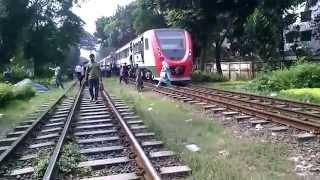 Bangladesh Railway Train Compilation near Banany, Dhaka
