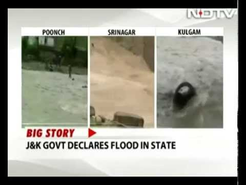 Floods declared in Jammu and Kashmir, 21 missing, schools closed