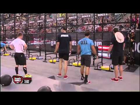 2012 CrossFit Games - Medball-Handstand Push-up: Men, Heat 4