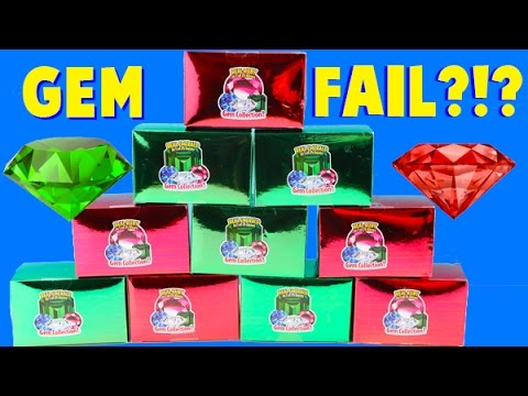 MEGA Emerald and Ruby Gem Dig It FAIL Unboxing Part Two