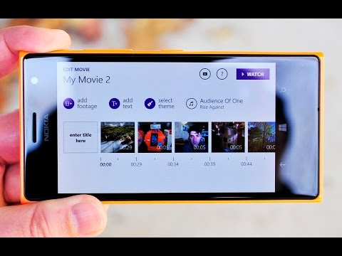 Movie Creator Beta hands on with the Lumia 735