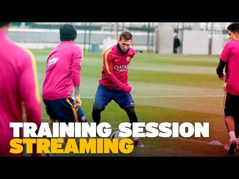 FC Barcelona training session before Granada