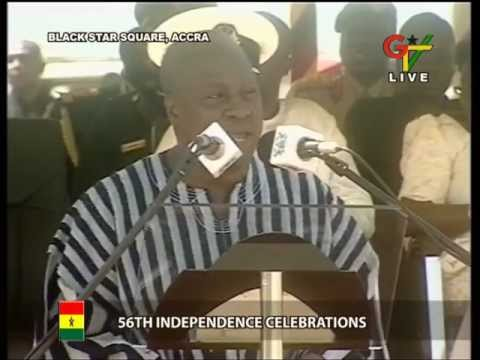 Ghana | President Mahama sings on  56th Independence Day