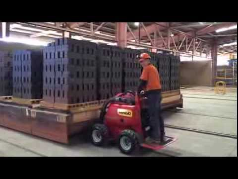 Dingo CONTRACTOR moving 30 ton Brick Pallet