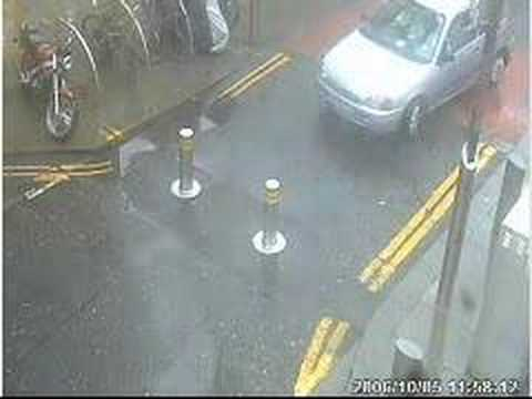 Drivers Manchester lose the battle of the traffic bollard