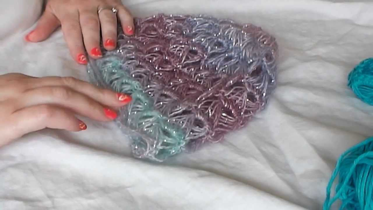 Crocheting In The Round Tutorial : HOW CROCHET BROOMSTICK LACE IN THE ROUND. - YouTube