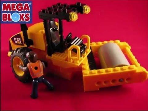 Stop Motion Mega Bloks Steam Roller Cat® Road Building Unit 97805