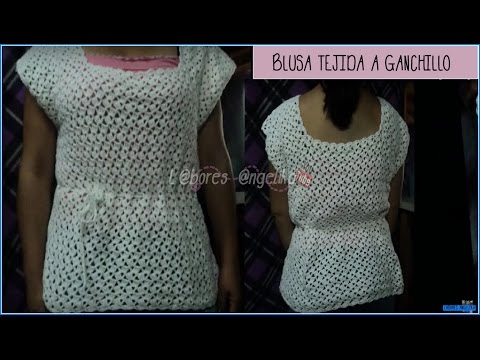 BLUSA TEJIDA A GANCHILLO PARTE 1 DE 2 (TUTORIAL). Music Videos