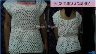Cooking | BLUSA TEJIDA A GANCHILLO PARTE 1 DE 2 TUTORIAL . | BLUSA TEJIDA A GANCHILLO PARTE 1 DE 2 TUTORIAL .