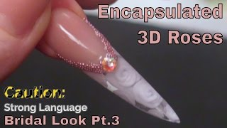 Alternative Bridal Nail Design Creating 3D Roses.
