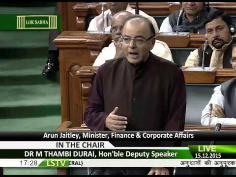FM Arun Jaitley's speech in Lok Sabha