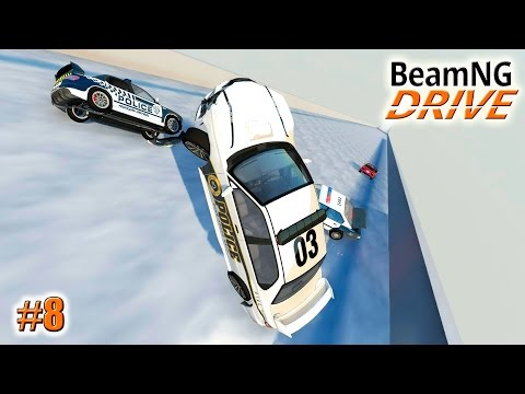 BeamNG.drive КРУТОЙ ТРАМПЛИН (Ski jumping) (Crash test) 8 серия