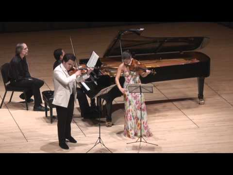 Moszkowski Suite for Two Violins &amp; Piano - 3rd mvt. | G. Schmidt, B. Hristova, V. Asuncion