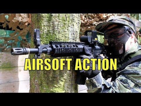 Airsoft War M14 EBR G36 M4 M16 Nomad Scotland HD