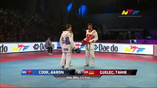 [The best game] Male -80Kg Semi Final | COOK, AARON(IMN) v GUELEC, TAHIR(GER)