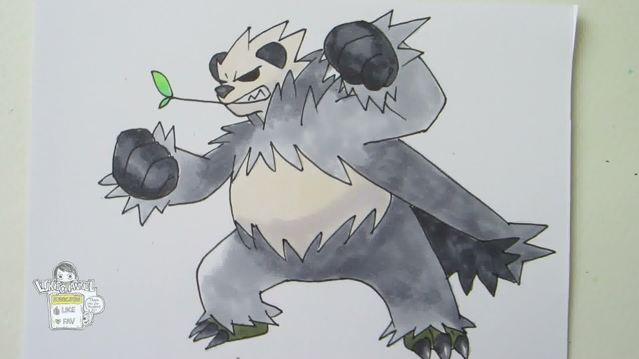 [Tutorial] How to draw Pangoro from the Pokemon X and Y ...