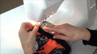 How to sew your knit fabric binding on a Brindille and Twig pattern