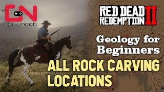 Red Dead Redemption 2 - All Rock Carving Locations - Geology for Beginners Mission