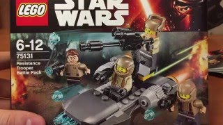 75131 LEGO RESISTANCE TROOPER BATTLE PACK - review