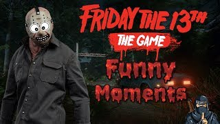 Friday the 13th: The Game *Funny Moments* (Fails, corpse launch, decking Jason & Many more)!