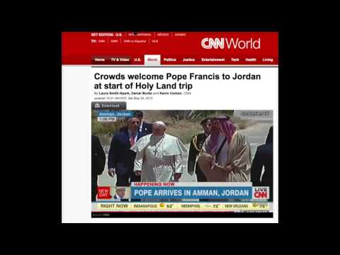 Pope Francis Shakes Up Middle East Literally!