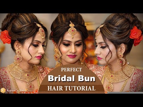 Perfect Bridal BUN Hair Tutorial | Step by Step Bridal Hairstyle Tutorial Video | Krushhh by Konica