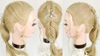 Easy Braided Ponytail For Long Hair