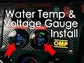 Wiring And Installing Water Temp & Voltage Gauge From Dragon Gauges | Fiesta MK6 Build | DIY