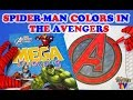 SuperHeroes Spiderman Colors In The Avengers Logo Coloring Book ToyfunTV mp3