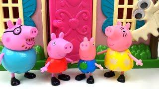 LA FAMILIA PIG SE MUDA A UNA CASA CON FANTASMAS CUENTOS DE PEPPA PIG PEPPA PIG STORY HAUNTED HOUSE
