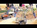 RC Truck Action! 5 Years Stonebreaker-Area! MAN! Scania! Liebherr! ScaleART!