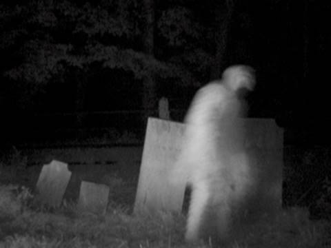 SCARY CEMETERY  GHOST FOOTAGE